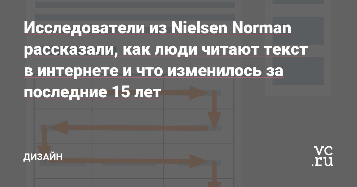 Исследователи из Nielsen Norman рассказали, как люди читают текст в интернете и что изменилось за последние 15 лет