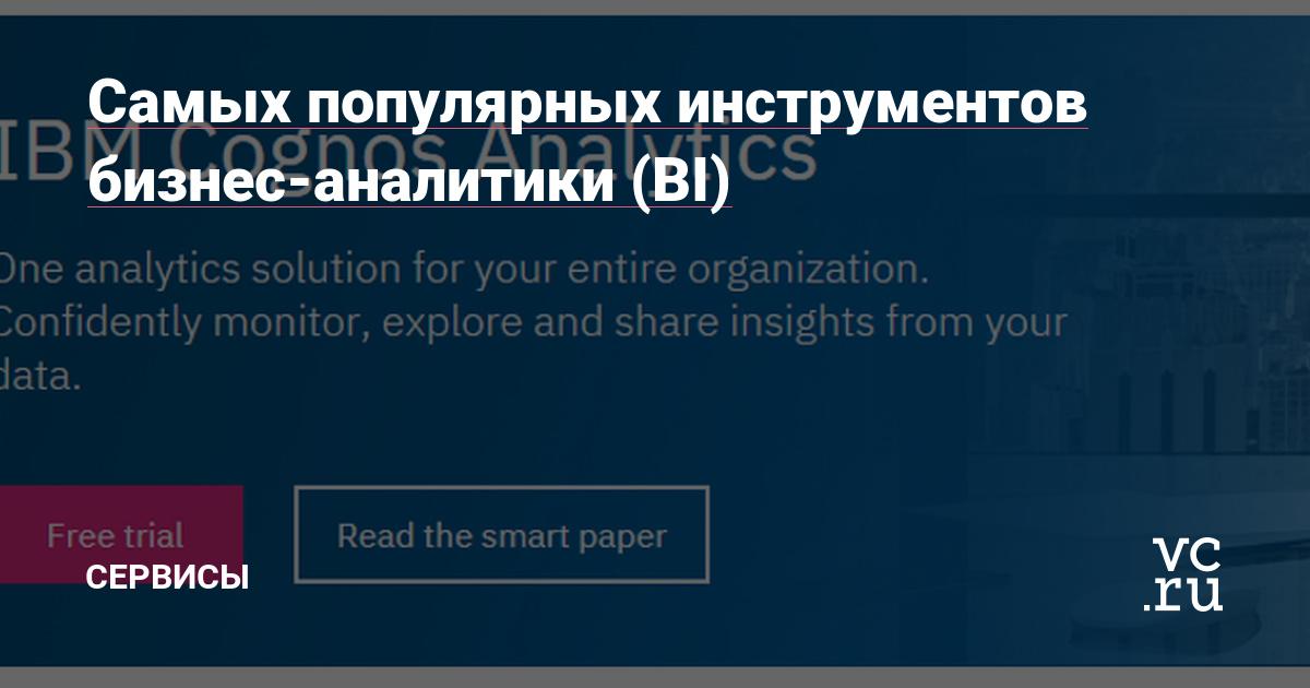 Cамых популярных инструментов бизнес-аналитики (BI)