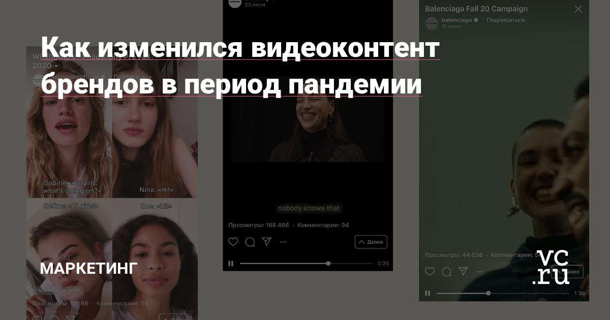 Как изменился видеоконтент брендов в периодпандемии