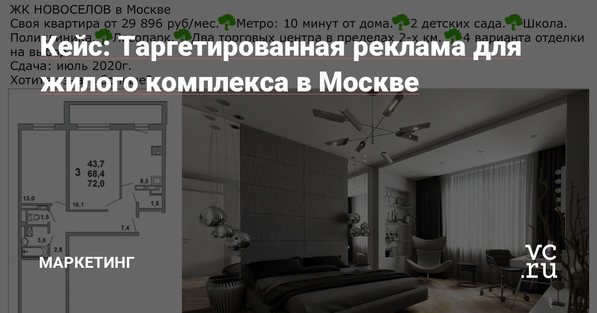 Кейс: Таргетированная реклама для жилого комплекса в Москве