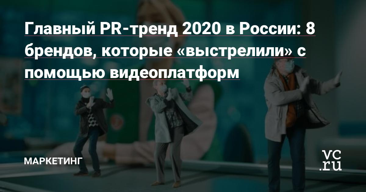 """Главный PR-тренд 2020 в России: 8 брендов, которые """"выстрелили"""" с помощью видеоплатформ"""
