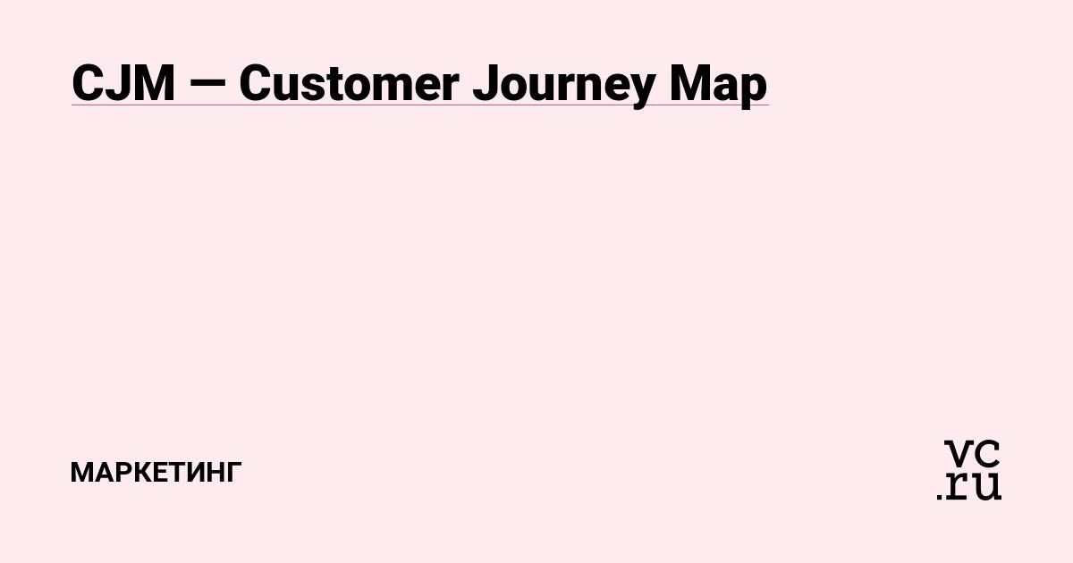 CJM—Customer Journey Map