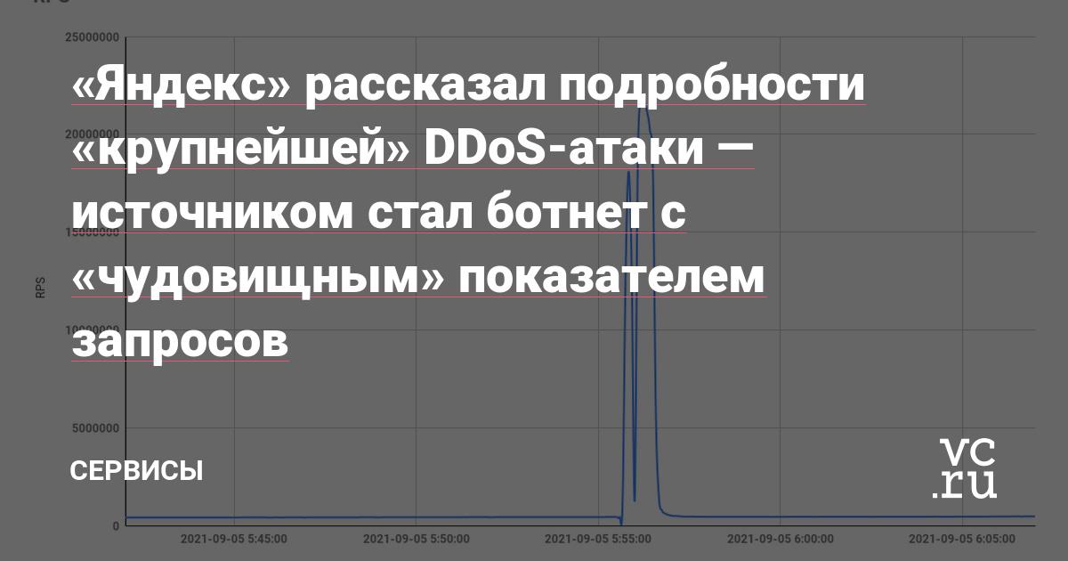 «Яндекс» рассказал подробности «крупнейшей» DDoS-атаки — источником стал ботнет с «чудовищным» показателем запросов