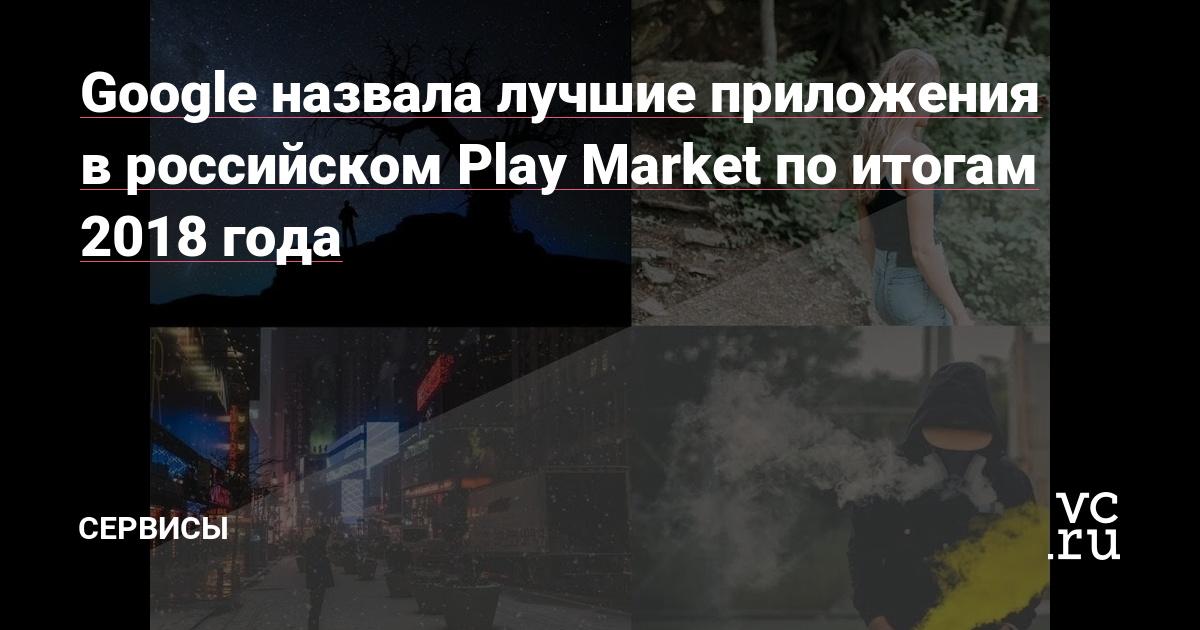 Google назвала лучшие приложения в российском Play Market по
