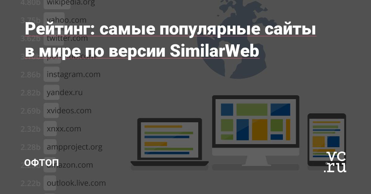0bc4b4de703 Рейтинг  самые популярные сайты в мире по версии SimilarWeb — Офтоп на vc.ru